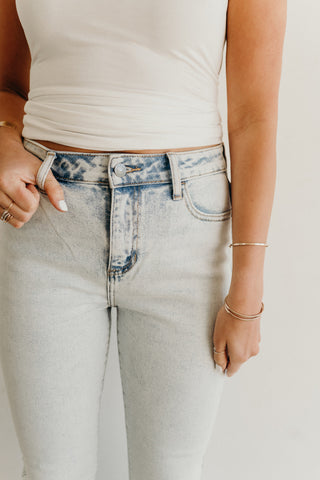 """Mason"" High Waisted Skinny Jeans, Light Wash"
