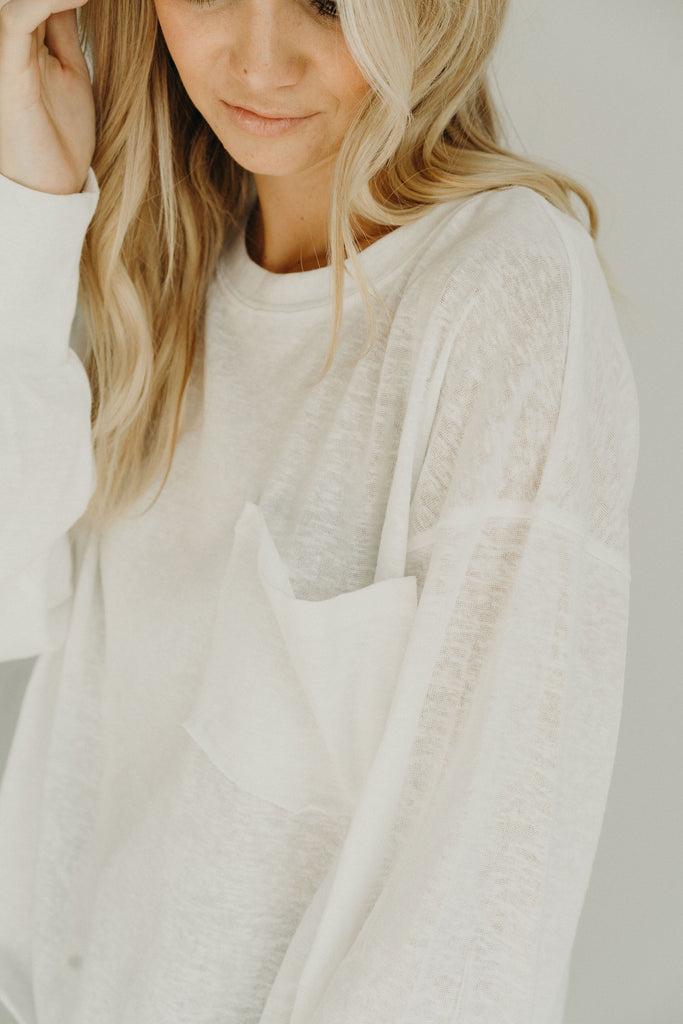 """Coast"" Relaxed Pullover, White"