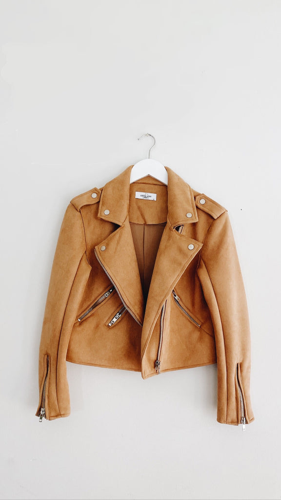 """James"" Suede Moto Jacket"