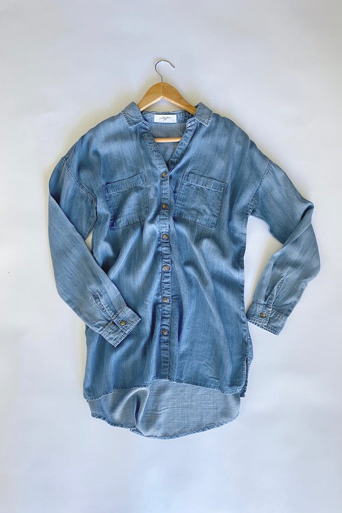 Ari Chambray Top, Medium