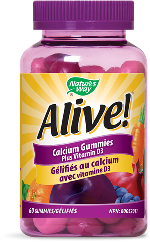 Alive! Calcium Gummies Plus Vitamin D3