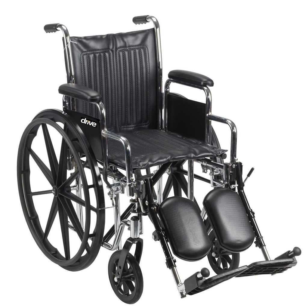 Wheelchair with Elevated Leg