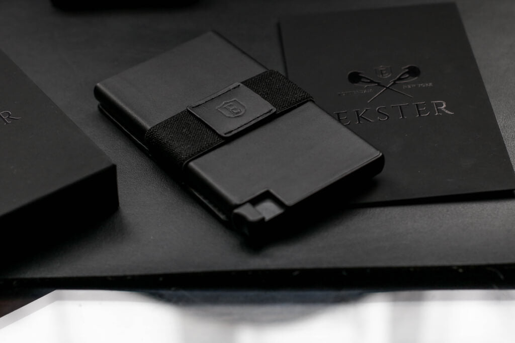 image of luxury leather wallet, with packaging included