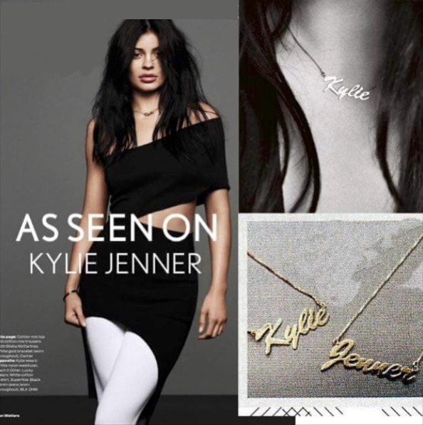 Customised Gold or SILVER Sterling Necklace Personalised - Embrace Luxury