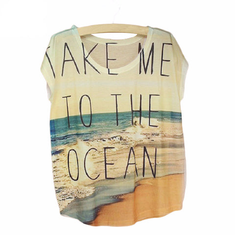 Take Me To The Ocean - Women T-Shirt - Embrace Luxury