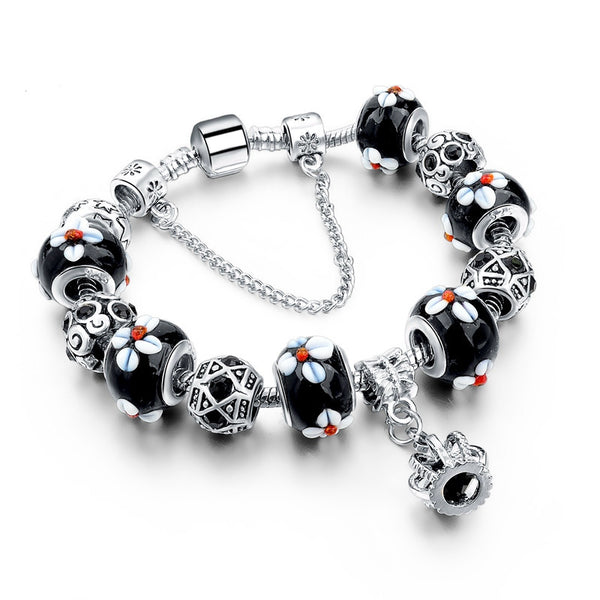 Silver Charm Royal Crown Women Bracelets - Embrace Luxury