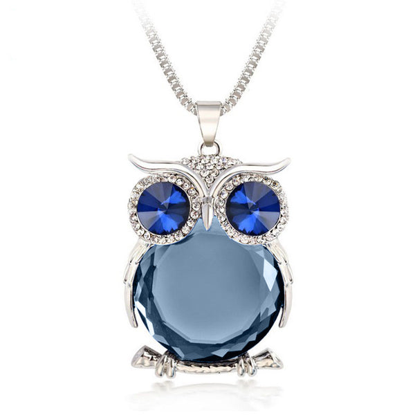 Trendy Owl Necklace with Rhinestone Crystal for Women - Embrace Luxury