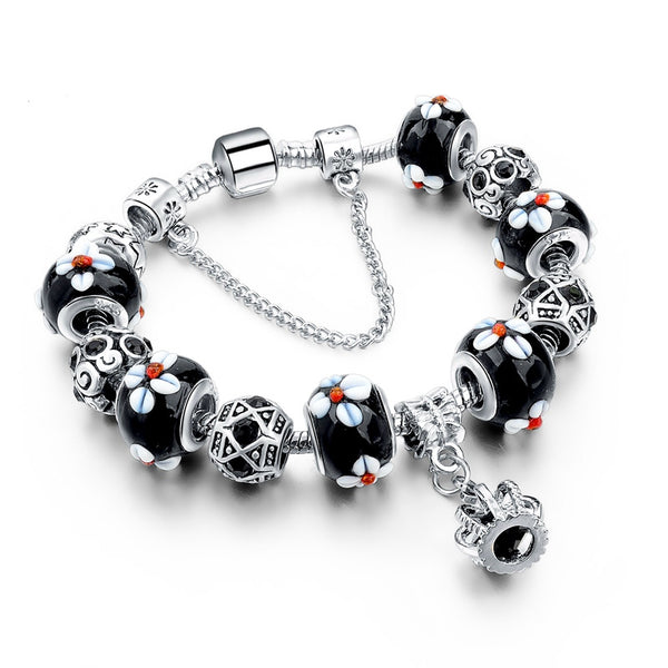 Silver Charm Royal Crown Women Bracelets