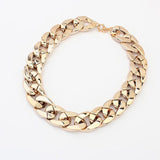 Gold & Silver Tones Plated CCB Chain Women Necklace - Embrace Luxury