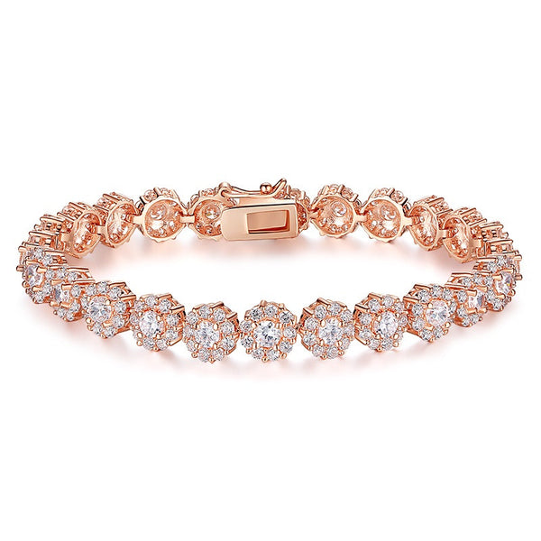 Rose Gold Plated Chain Link Women Bracelet - Embrace Luxury