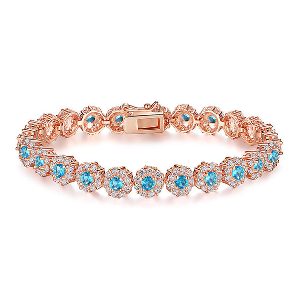 Rose Gold Plated Chain Link Women Bracelet