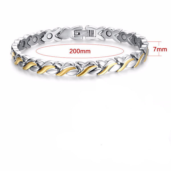 Magnetic Geo Stainless Steel Women Bracelet - Embrace Luxury