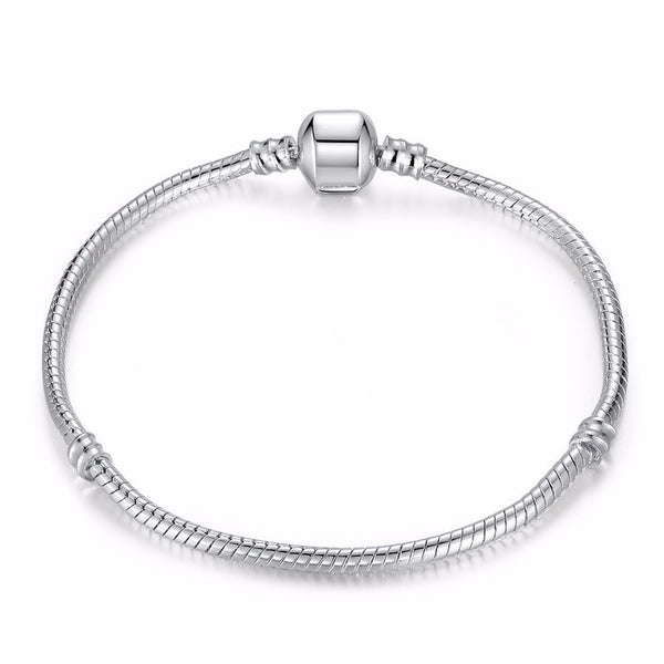 Silver Love Snake Chain Fit Original Pandora Unisex Bracelet - Embrace Luxury