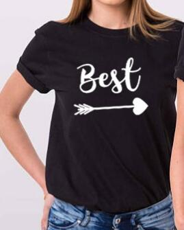 best friends T-Shirt Tumblr Couples BFF Bestie Tee Best Friend  Matching Tops Bestie Gift Best Sister Tee Camisetas