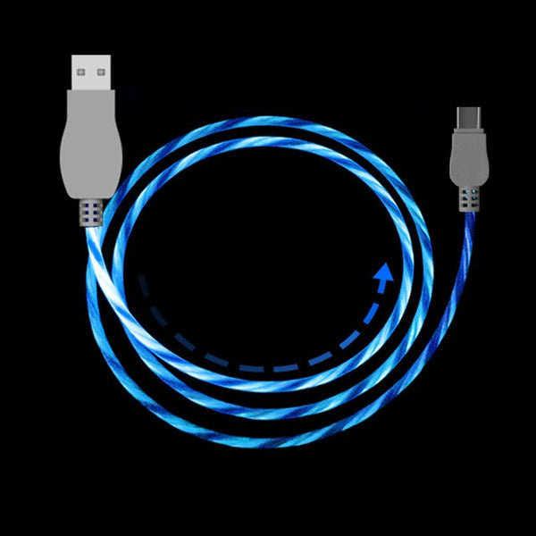 Led USB Cable Flash Light  iPhone Samsung Xiaomi Huawei Android