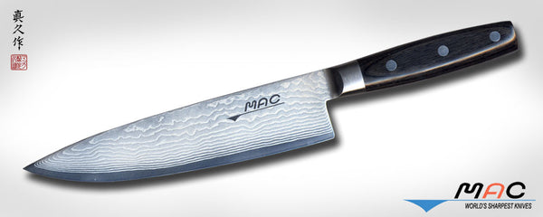 "Damascus Series 8"" Chef's Knife (DA BK-200) - MAC Knife"