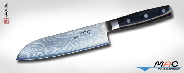"Damascus Series 7"" Santoku (DA SK-180) - MAC Knife"