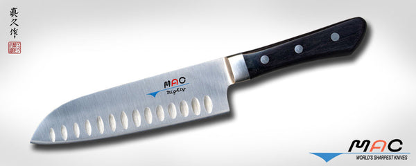 "Professional Series 6 1/2"" Santoku with Dimples (MSK-65) - MAC Knife"