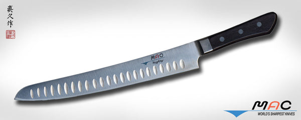 "Professional Series 10 1/2"" Slicer with Dimples (MSL-105) - MAC Knife"