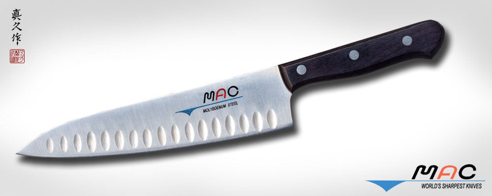 "Chef Series 8"" Chef's Knife with Dimples (TH-80) - MAC Knife"