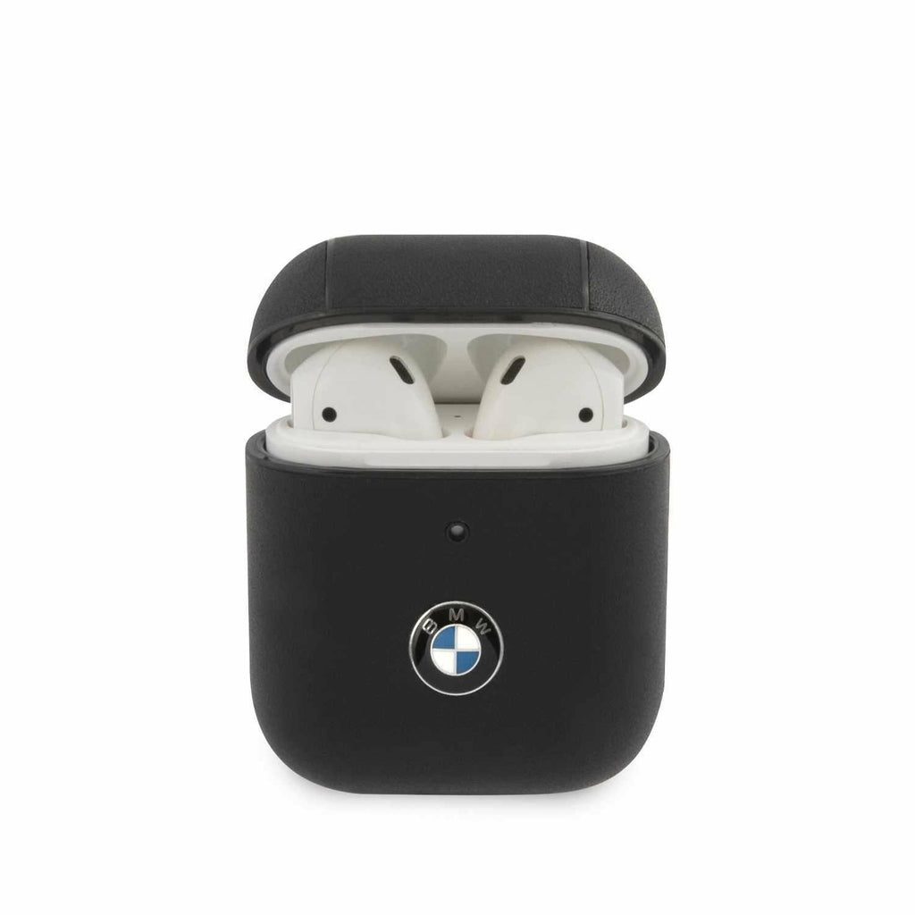 BMW Motorsports PC Leather AirPods Case with Metal Logo
