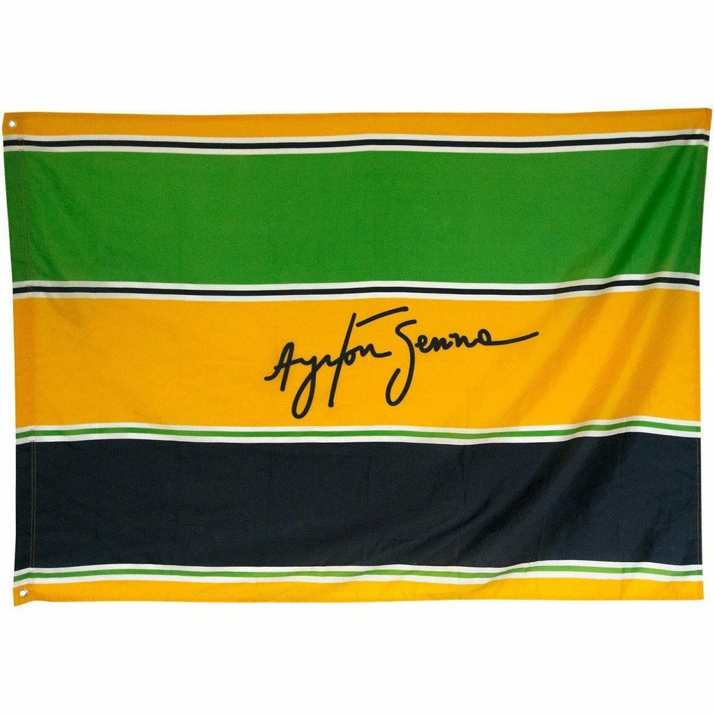 Ayrton Senna Authentic Flag