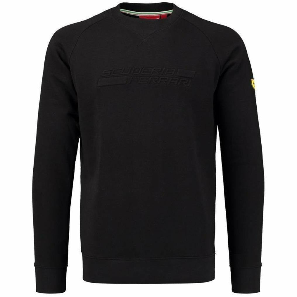Scuderia Ferrari Formula 1 Men's 2018 Black Embossed Sweatshirt