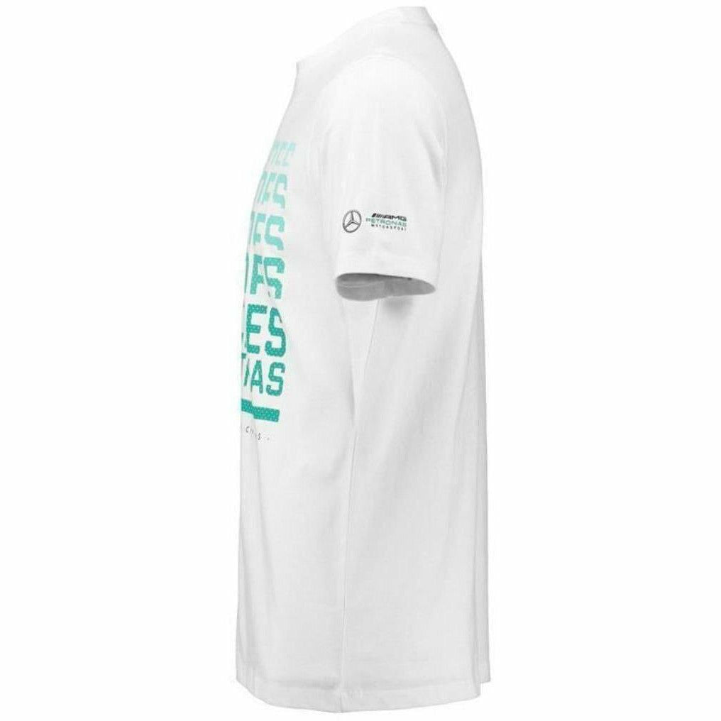 Mercedes Benz AMG Petronas Formula 1 Men's 2018 White Graphic T-Shirt