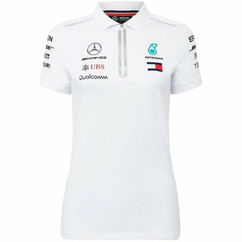 Mercedes Benz Petronas AMG Formula 1 Women's 2018 Driver Team White Polo Shirt
