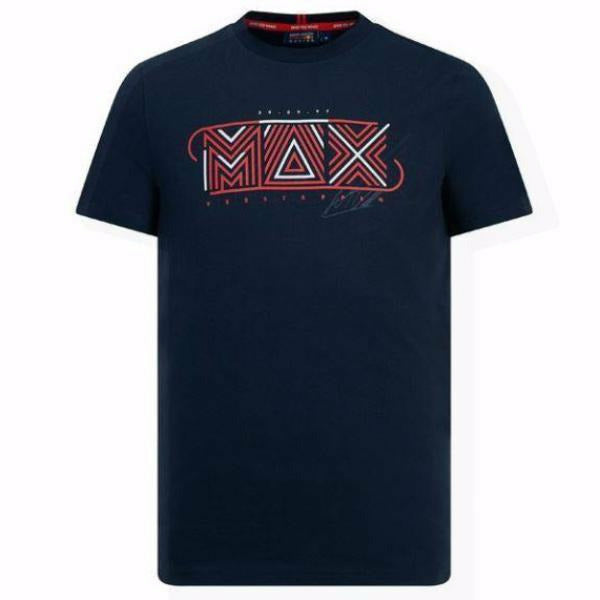 Red Bull Racing F1 Men's Max Verstappen Graphic T-Shirt Blue