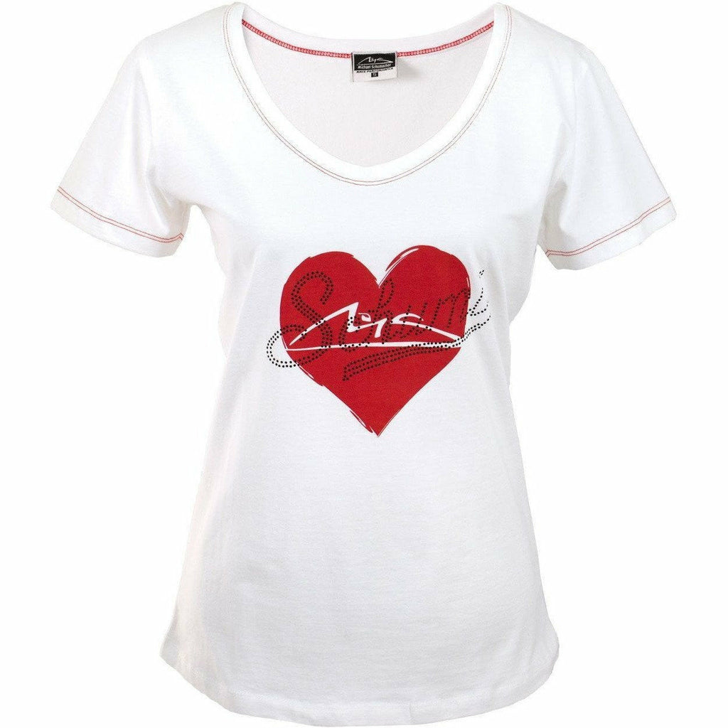 Michael Schumacher Authentic Women's Heart T-Shirt