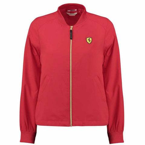 Scuderia Ferrari Women's Bomber Jacket, Red