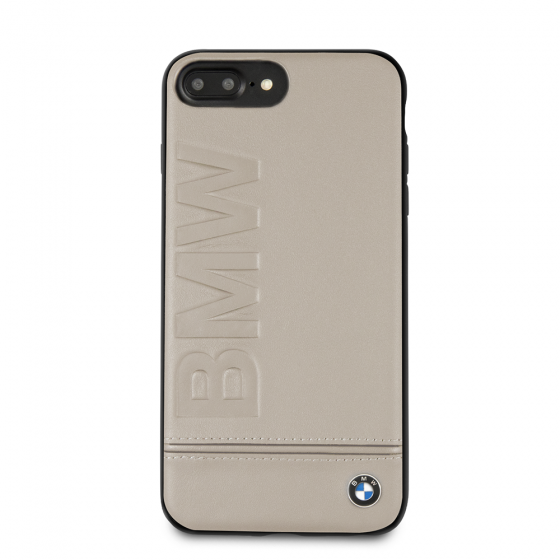 BMW GENUINE LEATHER TAUPE RIGID CASE