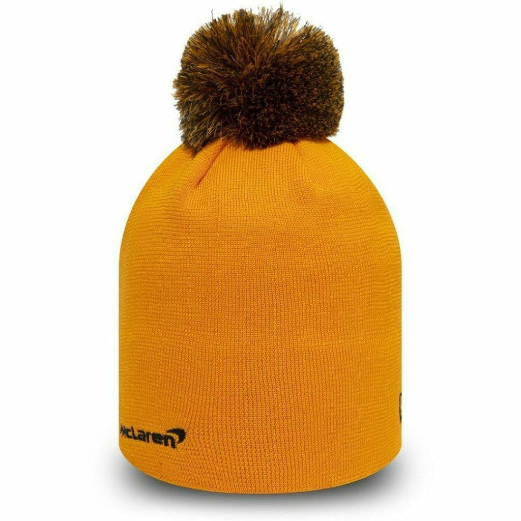 McLaren Essentials Knit Bobble Beanie Orange/Black