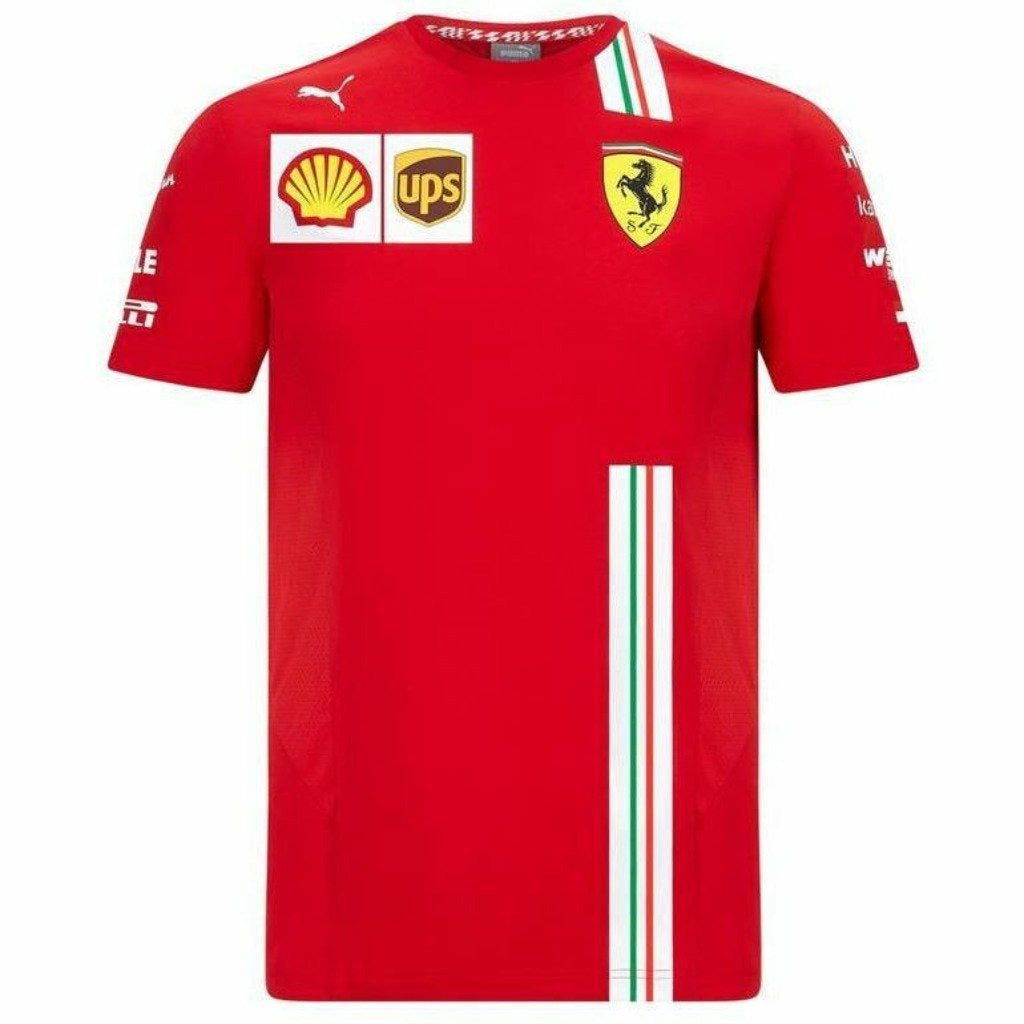 Scuderia Ferrari F1 2020 Men's Charles Leclerc Team T-Shirt Red