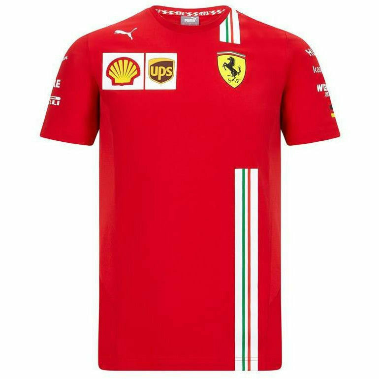 Scuderia Ferrari F1 2020 Men's Sebastian Vettel Team T-Shirt Red