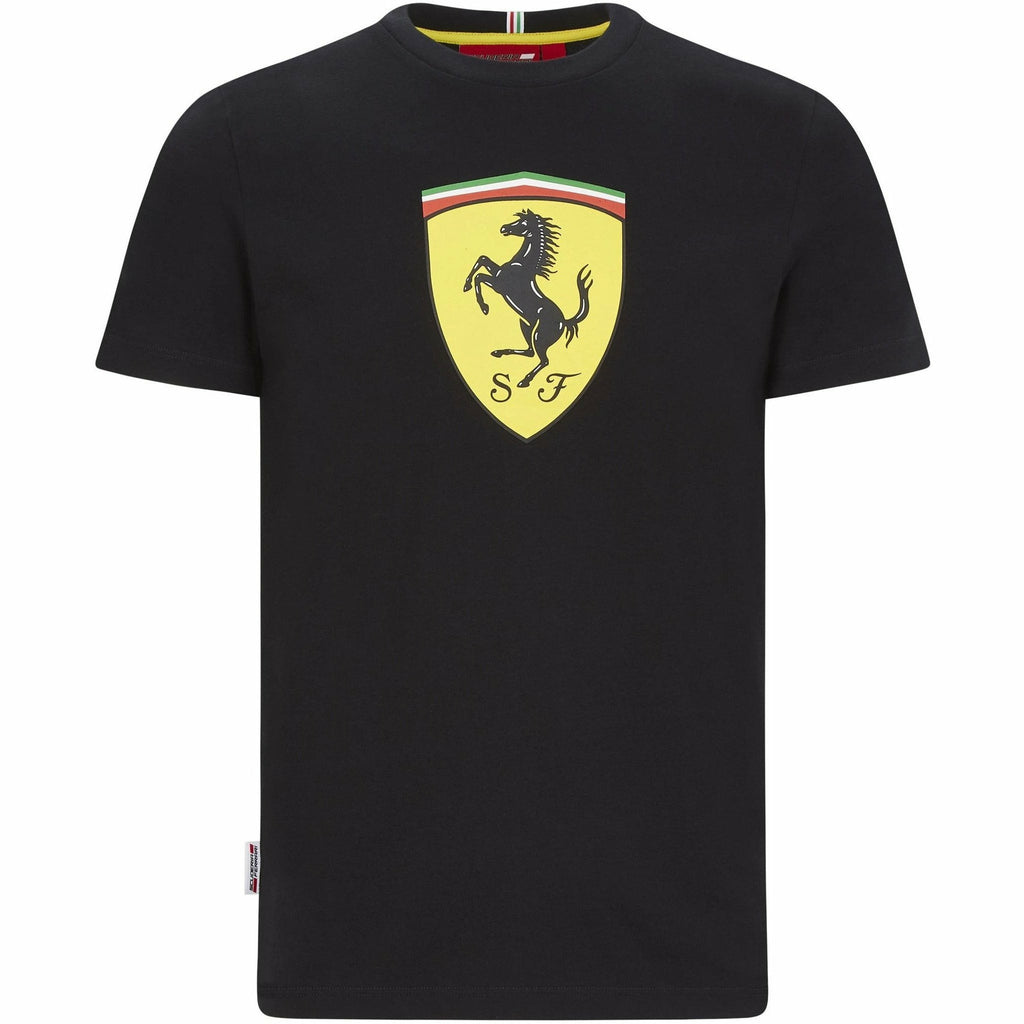 Scuderia Ferrari F1 Large Shield T-Shirt Black/Red
