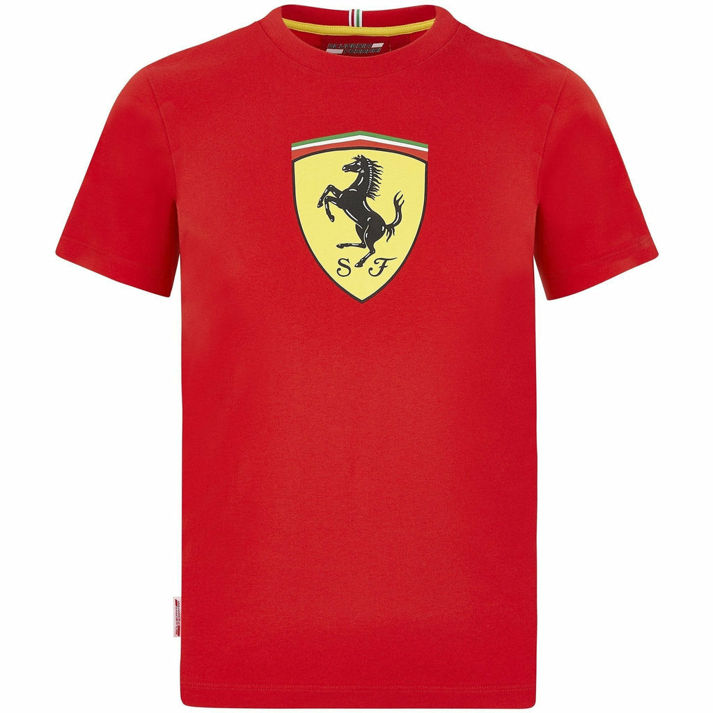 Scuderia Ferrari F1 Kids Large Shield T-Shirt Black/Red