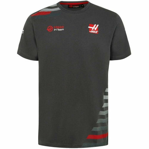 Haas American Team Formula 1 Motorsports Authentic 2018 Men's Gray Team T-Shirt