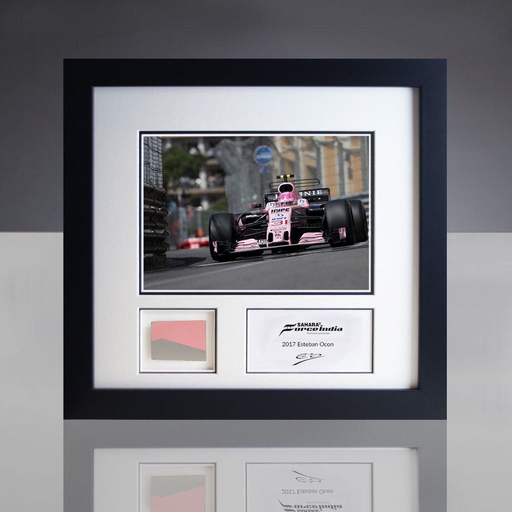 Sahara Force India F1 Esteban Ocon Monaco GP Photo & Piece of Car Bodywork