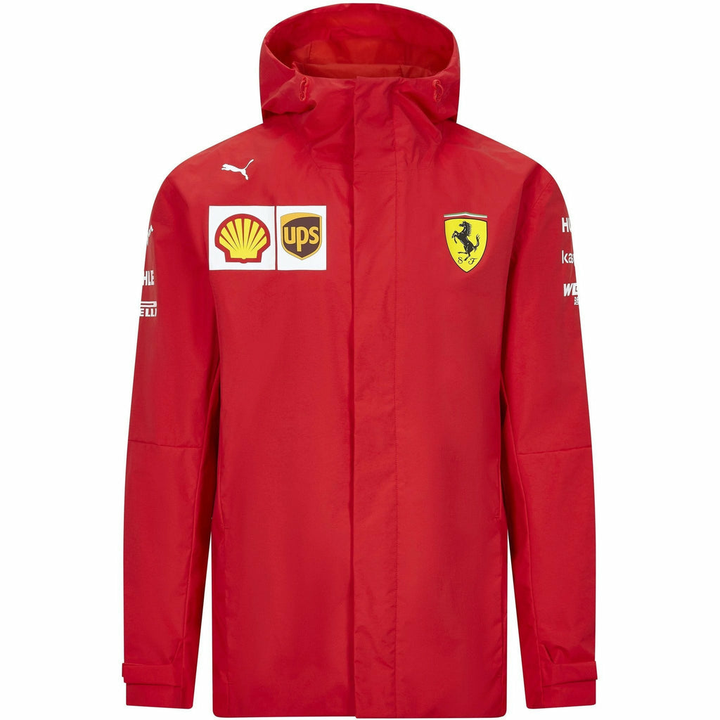 Scuderia Ferrari F1 Men's 2020 Team Rain Jacket Red