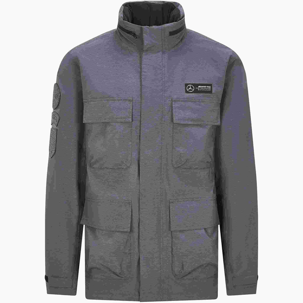 Mercedes Benz AMG Petronas F1 Men's Performance Jacket Carbon Gray