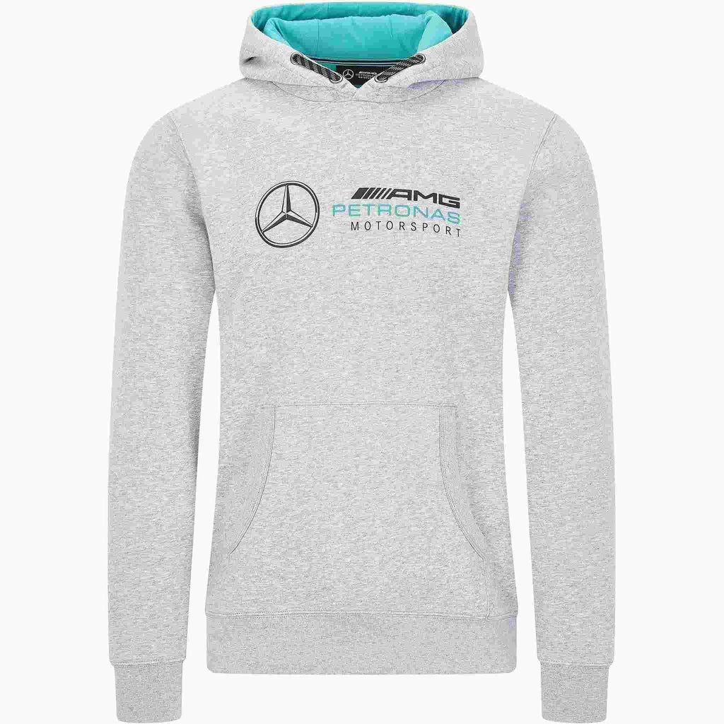 Mercedes Benz AMG Petronas F1 Logo Hooded Sweatshirt Black/Gray