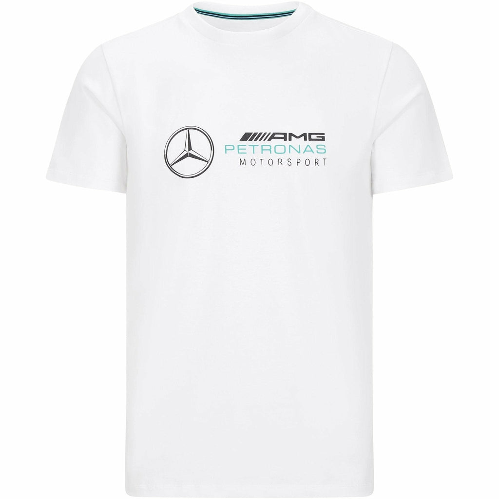 Mercedes Benz AMG Petronas F1 Men's Large Logo T-Shirt Black/Gray/White