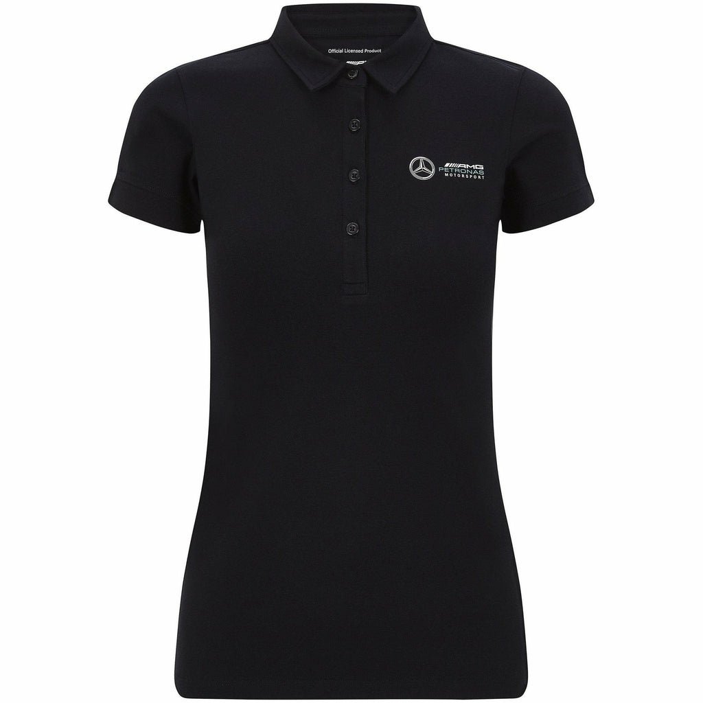 Mercedes Benz AMG Petronas F1 Women's Classic Polo Black
