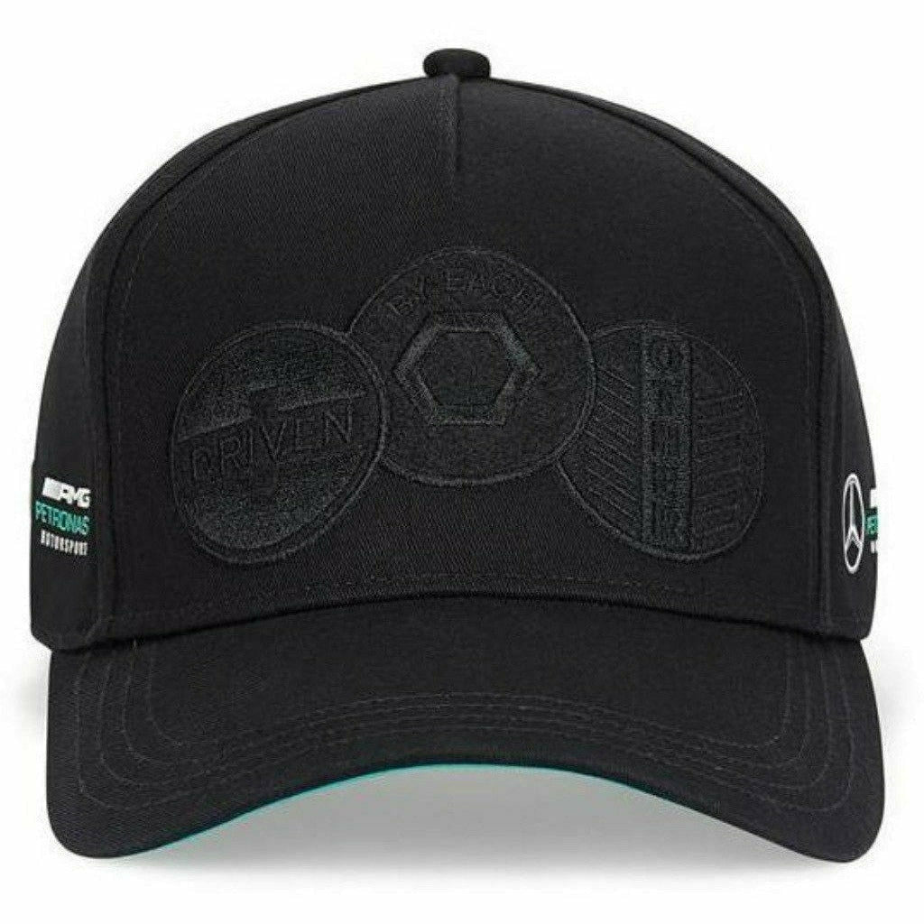 "Mercedes Benz AMG Petronas F1 Badge Hat ""Driven by Each Other"""