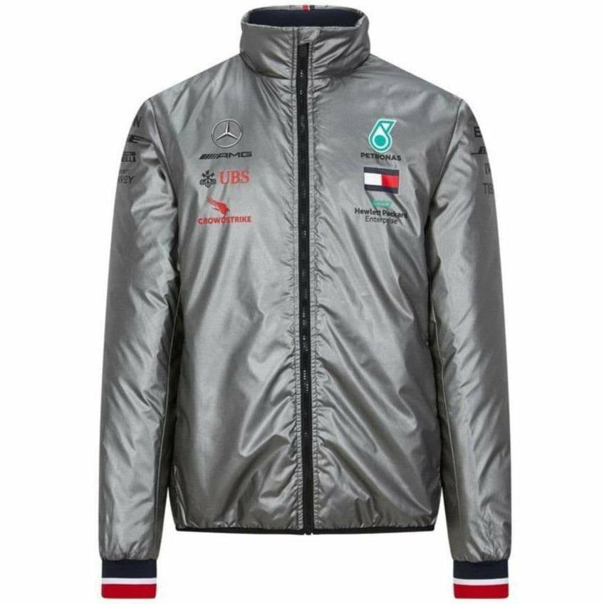 Mercedes Benz AMG Petronas F1 2020 Men's Team Padded Jacket Gray