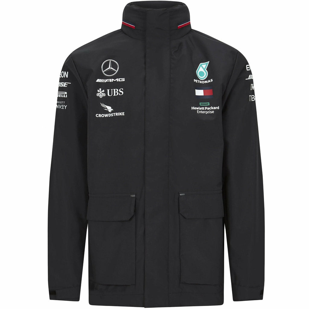 Mercedes Benz AMG Petronas F1 2020 Men's Team Rain Jacket Black