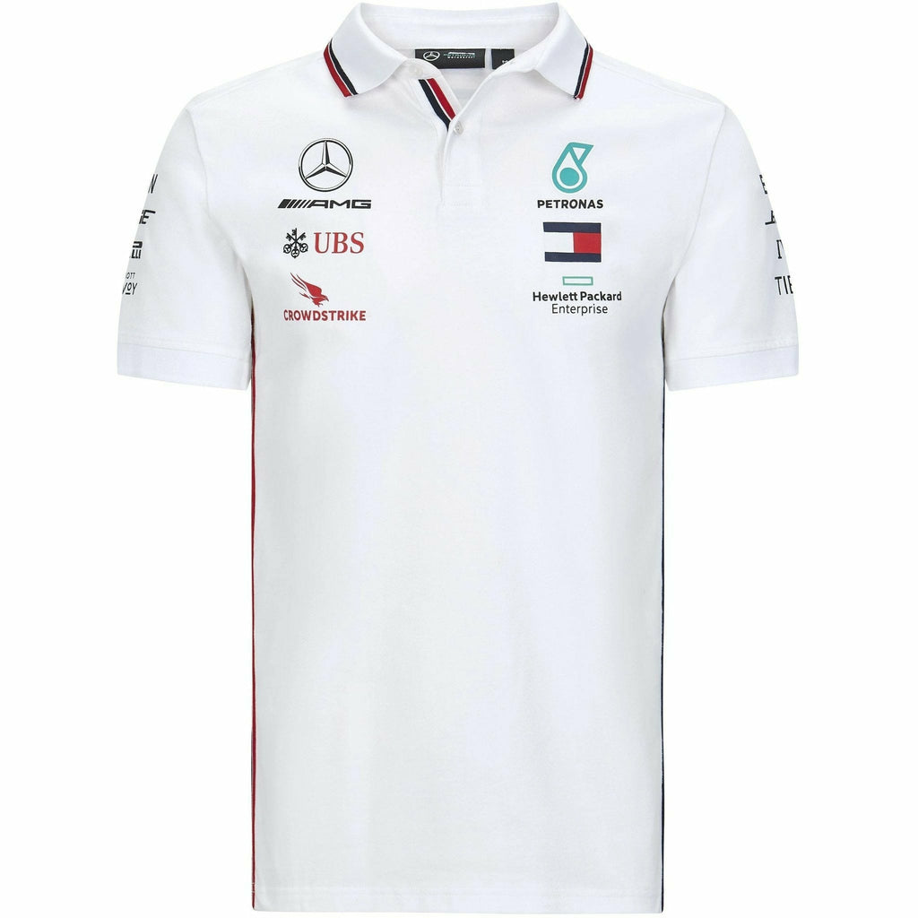 Mercedes Benz AMG Petronas F1 2020 Men's Team Polo Black/White