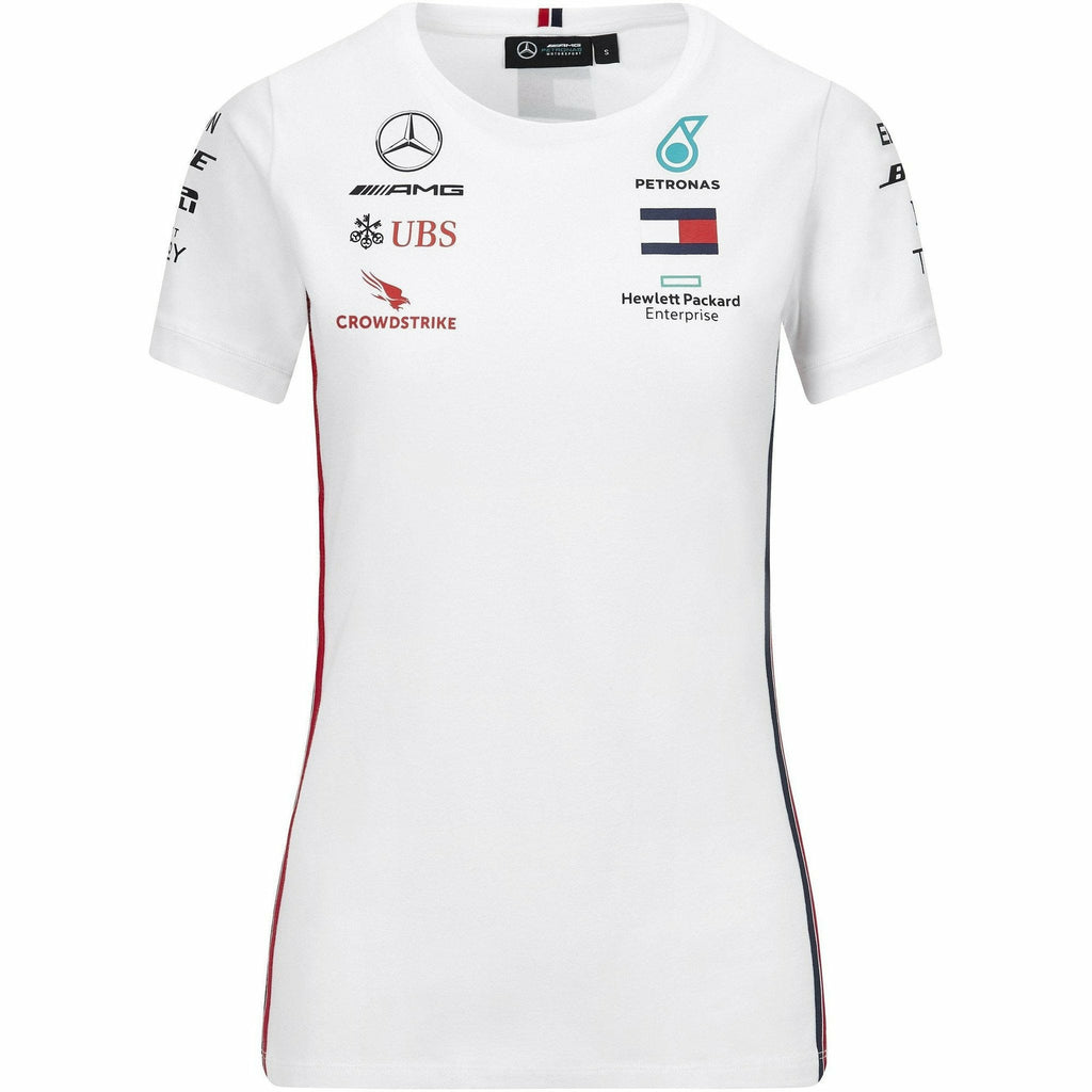 Mercedes Benz AMG Petronas F1 2020 Women's Team T-Shirt Black/White